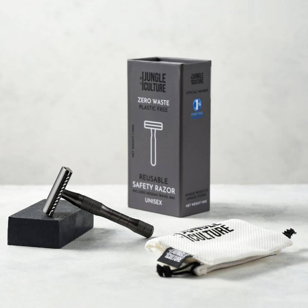 JC002 – Black – metal-safety-razor-mens